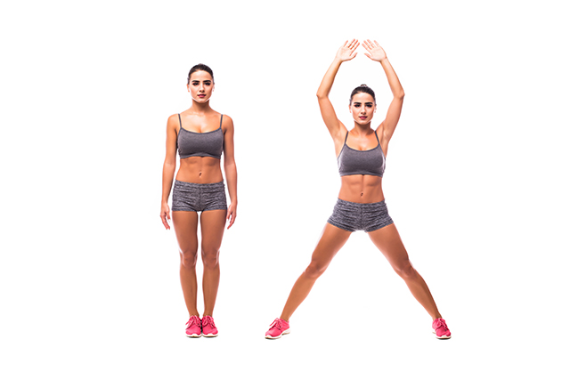 how to do jumping jacks workout exercise