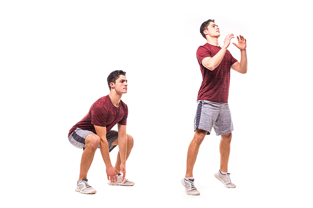 how to do squat jumps workout exercise