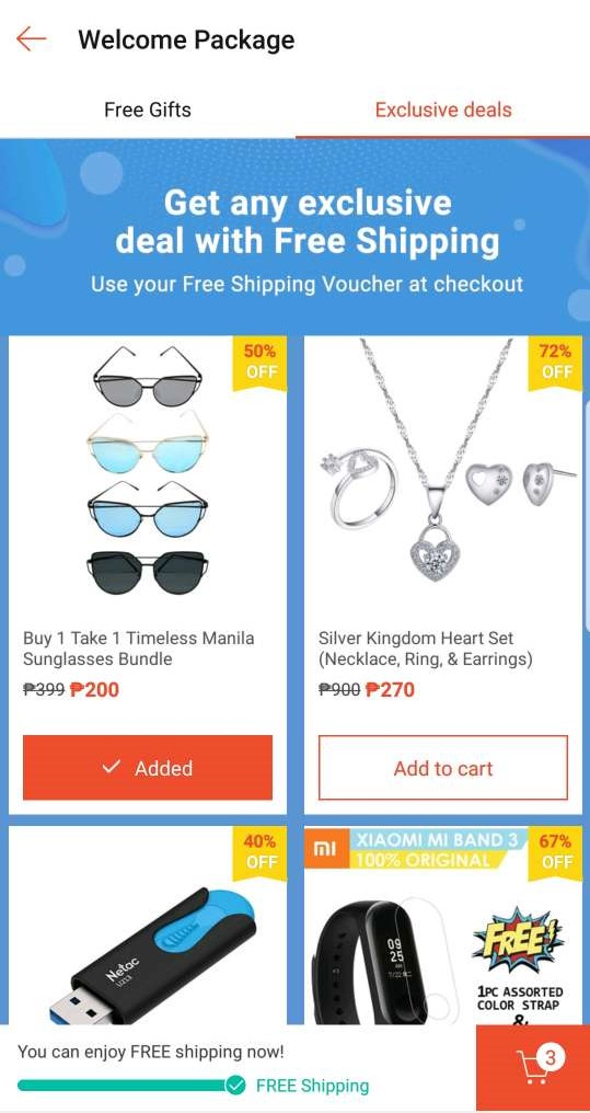 exclusive shopee deals new users