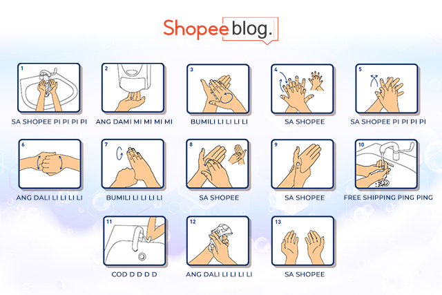 how to wash hands by shopee