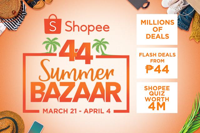 Shopee 4.4 Summer Bazaar April 2019