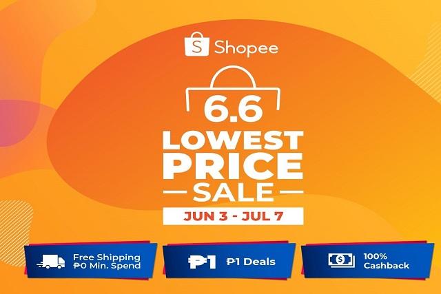 Shopee 6.6 7.7 Lowest Price Sale header
